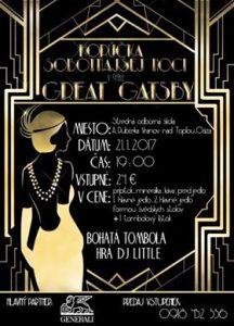 Pozvánka na ples Horúčka sobotňajšej noci – Great Gatsby