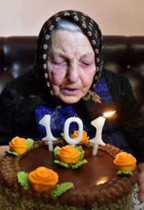 Starenka Margita Bindasová z obce Vechec oslávila 101. narodeniny
