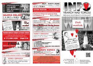 VRANOV: Prehľad kina a kultúrnych podujatí na máj 2017