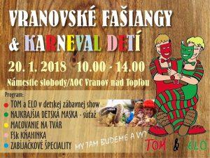 VRANOV: V meste budú fašiangy, pre deti je pripravený karneval