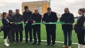Otvorenie novej hracej plochy na futbalovom štadióne + VIDEO