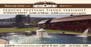MAJEROVCE: Záhrada s oddychovým bazénom a relaxačnou časťou už v prevádzke